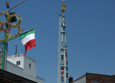 The Giglio Feast statue in Williamsburg, a beacon for false Italians