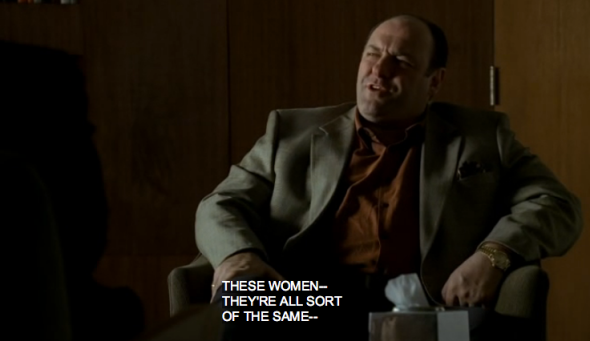 Tony Soprano, a sociopath with dick issues