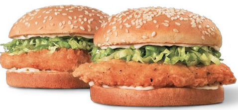 The chicken sandwich is best for the not too far gone drunk